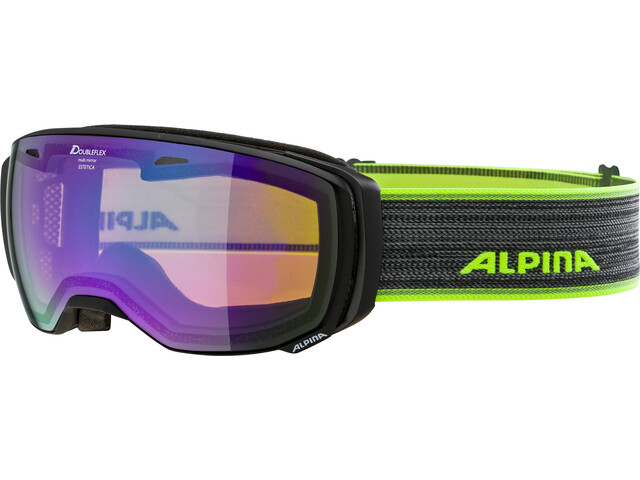 Alpina Estetica HM Gogle, black matt green spherical